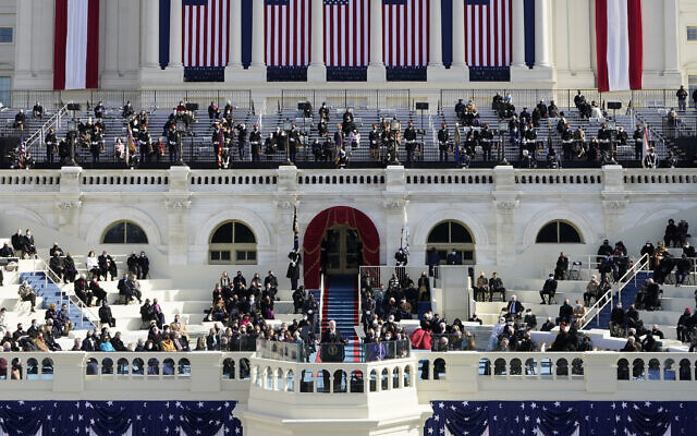 US President Joe Biden delivers his inaugural address during the 59th Presidential Inauguration at the US Capitol in Washington, Jan. 20, 2021. (AP Photo/Patrick Semansky, Pool)