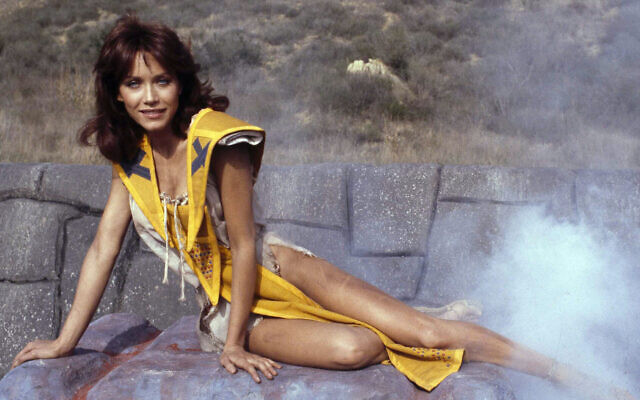Tanya Roberts stars as Kiri in the adventure movie The Beastmaster, December 16, 1981. (AP Photo/Wally Fong)