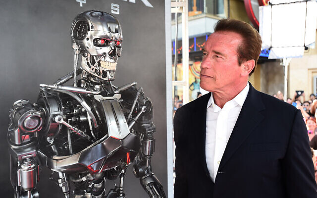 Arnold Schwarzenegger arrives at the LA Premiere of 'Terminator Genisys' at Dolby Theatre on June 28, 2015 in Los Angeles. (Jordan Strauss/Invision/AP)