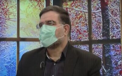 Screen capture from video of Iranian lawmaker Ahmad Amirabadi Farahani during a television interview. (YouTube)