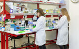Workers in the Biond Biologics lab in Misgav, Israel (Courtesy)