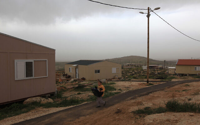 The Avigayil outpost, southeast of Hebron in the West Bank, Febuary 21, 2010. (Kobi Gideon / FLASH90)