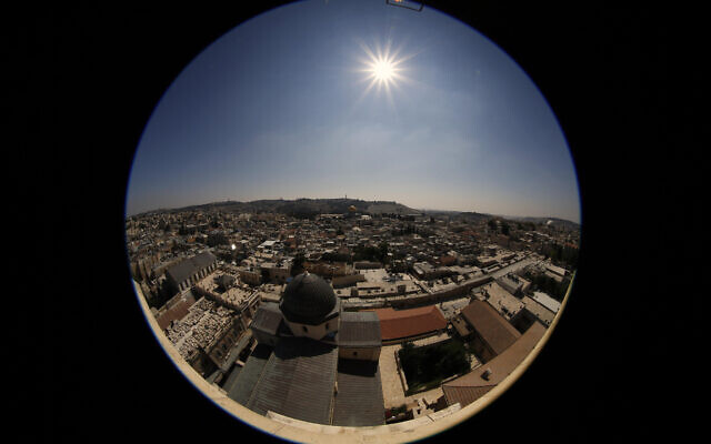 The Old City skyline, as seen from a rooftop in the Christian Quarter, in Jerusalem, on August 5, 2013. (Sliman Khader/Flash90)