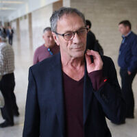 Mohammad Bakri at the Lod District Court on December 21, 2017 (FLASH90)