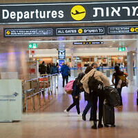 An almost empty Ben Gurion International Airport, on January 18, 2021. (Avshalom Sassoni/FLASH90)