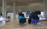 The arrival hall at the almost empty Ben Gurion International Airport on January 25, 2021. (Yossi Aloni/Flash90)