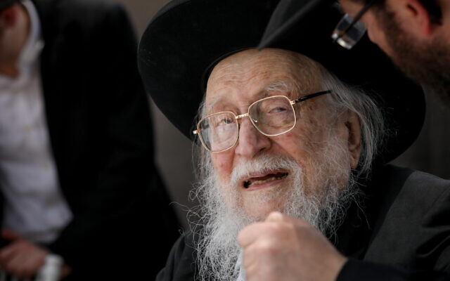 Rabbi Yitzchok Scheiner attends an event in Jerusalem on June 13, 2019. (Shlomi Cohen/Flash90)