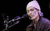 US-Jewish singer Matisyahu speaks at Le Poisson Rouge in New York City, January 8, 2016. (Courtesy of Amir Norman via JTA)