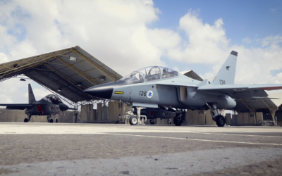 Israeli Air Force M-346 training aircraft. (Elbit Systems)