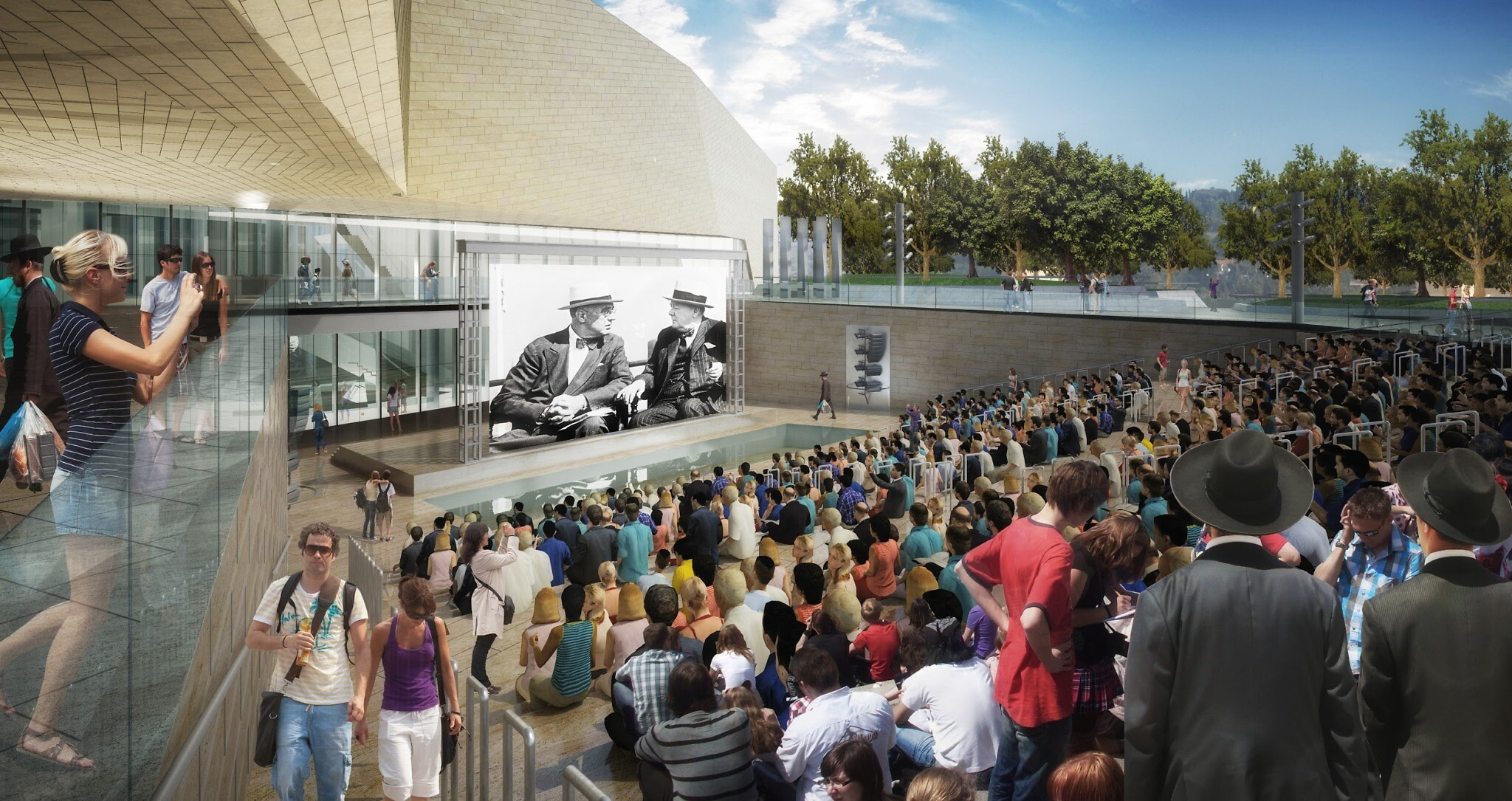 Artist's impression of the Museum of Tolerance, Jerusalem's outdoor, 1,000-seat amphitheater. (Courtesy, Simon Wiesenthal Center)