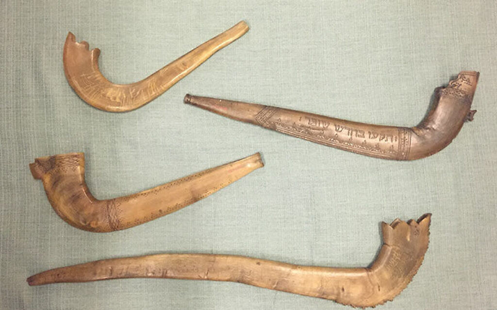 A selection of historical ram's-horn shofars from the Met collection. From top to bottom: Europe, 19th century (89.4.373); Europe, 18th century (89.4.2899); Russia, 19th century (89.4.3375); Europe, 18th or 19th century (89.4.1501). All instruments are from the Crosby Brown Collection of Musical Instruments, given to the Museum in 1889. (Bradley Strauchen-Scherer)