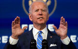 US President-elect Joe Biden speaks about the COVID-19 pandemic in Wilmington, Delaware, Jan. 14, 2021. (AP Photo/Matt Slocum)