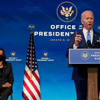 US President-elect Joe Biden speaks about the COVID-19 pandemic during an event in Wilmington, Delaware, Jan. 14, 2021. (AP Photo/Matt Slocum)