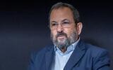 Former prime minister Ehud Barak during  amedia interview in Tel Aviv, September 30, 2019. (Yossi Aloni/Flash90)