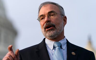 US Houser Representative Andy Harris speaks during a news conference with members of the conservative Freedom Caucus, on Capitol Hill in Washington, December 3, 2020. (AP Photo/Jacquelyn Martin)