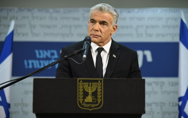 Yesh Atid's Yair Lapid, January 5, 2021. (Elad Guttman)