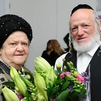 Yehuda Meshi-Zahav with his mother Sarah in an undated picture. (Courtesy Mendy Hachtman)