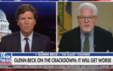 Glenn Beck appearing on Tucker Carlson's show on Fox News on January 12, 2021. (Screenshot via JTA)
