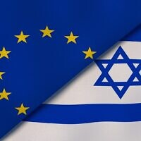 Illustrative image of the European Union and Israeli flags (Maksym Kapliuk; iStock by Getty Images)