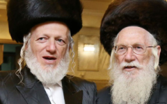 Yehuda Meshi-Zahav (L) with his father Menahem Meshi-Zahav (R), in an undated photo. (Courtesy: ZAKA spokesperson)