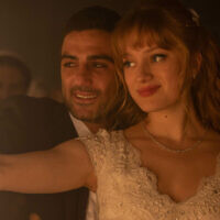 Imri Biton, left, and Nadia Tereszkiewicz in 'Possessions.' (Courtesy of HBO Max via JTA)