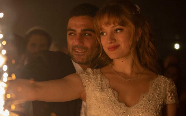Imri Biton, left, and Nadia Tereszkiewicz in 'Possessions.' (Courtesy of HBO Max via JTA)