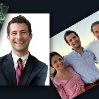 Photos of Tommy Raskin included in a memorial post by the Raskin family. (Collage by Laura Adkins/JTA)
