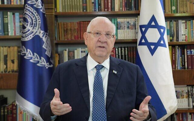 President Reuven Rivlin, January 6, 2021  (Amos Ben Gershom / GPO)