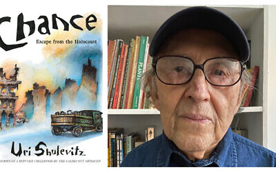 Uri Shulevitz, author of 'Chance: Escape From the Holocaust,' and cover art. (Photo of Shulevitz courtesy of Paula Brown/ book cover courtesy Farrar, Straus and Giroux)