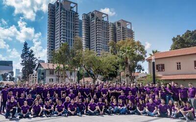 Employees of SentinelOne in Tel Aviv (Courtesy)