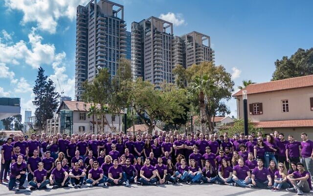 Employees of SentinelOne in Tel Aviv (Courtesy)