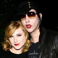 "Musician Marilyn Manson and actress Evan Rachel Wood attend the after party for a special screening of ""Across The Universe"" at Bette on September 13, 2007 in New York City (Scott Wintrow / GETTY IMAGES NORTH AMERICA / AFP)"