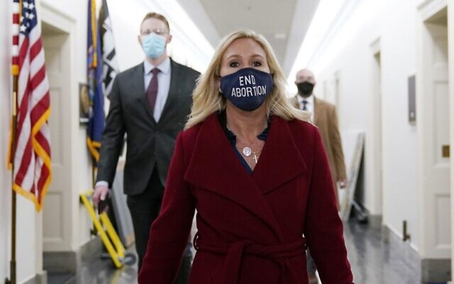 US Representative Marjorie Taylor Greene, Republican of Georgia, leaves her office on Capitol Hill on February 3, 2021 in Washington, DC (ALEX EDELMAN / AFP)