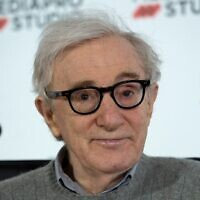 In this photo taken on July 9, 2019 US director Woody Allen holds a press conference in the northern Spanish Basque city of San Sebastian, where he will start shooting his yet-untitled next film. ( ANDER GILLENEA / AFP)