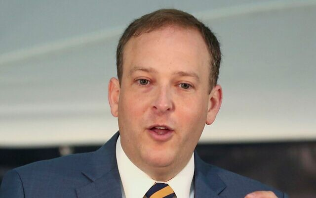 """Rep. Lee Zeldin is among the bill's sponsors, saying it could """"establish an international brain trust invaluable"""" to American and Israeli service members. (John Paraskevas/Newsday RM/Getty Images via JTA)"""
