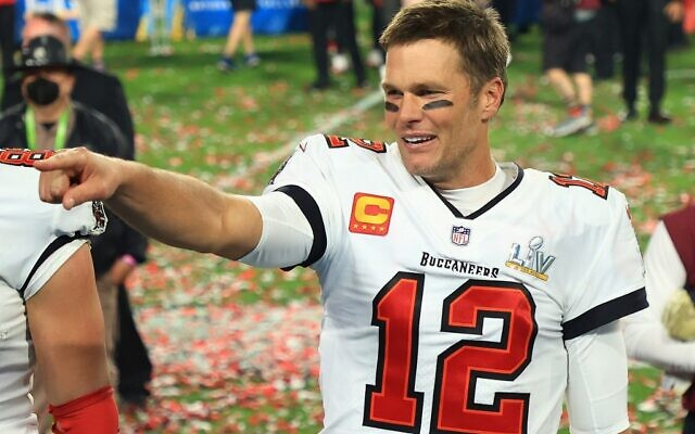 Tom Brady #12 of the Tampa Bay Buccaneers celebrates winning Super Bowl LV at Raymond James Stadium on February 07, 2021 in Tampa, Florida (Mike Ehrmann/Getty Images/AFP)