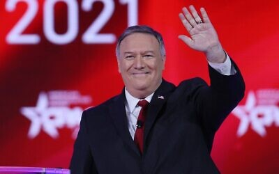 Former US secretary of state Mike Pompeo addresses the Conservative Political Action Conference on February 27, 2021, in Orlando, Florida. (Joe Raedle/Getty Images/AFP)