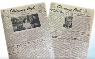 Old covers of the Arizona Jewish Post. (Courtesy of the Arizona Jewish Post via JTA)