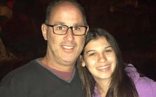 Fred Guttenberg with his daughter Jaime, who was killed in the Parkland school shooting. (Courtesy of Guttenberg via JTA)