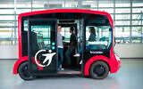 An iCristal electric shuttle developed by Lohr Group that will start using Mobileye's self-driving tech (Courtesy)