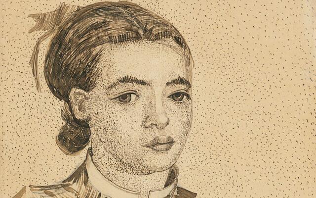 Vincent van Gogh's 1888 drawing of La Mousmé (courtesy: Christie's)