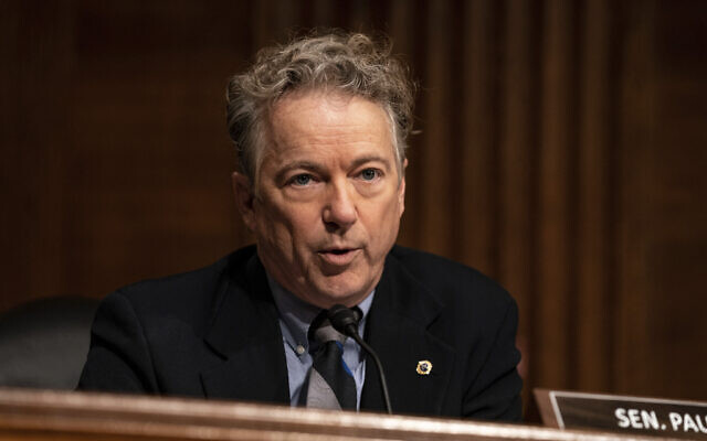 Senator Rand Paul, speaks during a Senate Health, Education, Labor and Pensions Committee hearing on the nomination of Miguel Cardona to be education secretary on Capitol Hill, Wednesday, February 3, 2021, in Washington. (Anna Moneymaker/The New York Times via AP)