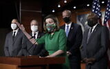 Speaker of the House Nancy Pelosi, D-Calif., meets with reporters before the House votes to pass a $1.9 trillion pandemic relief package, during a news conference at the Capitol in Washington, Friday, Feb. 26, 2021. (AP/J. Scott Applewhite)