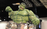 An Incredible Hulk model in the exhibit hall during the fourth day of the Comic-Con International 2011 convention held in San Diego, July 24, 2011 (AP Photo/Denis Poroy)