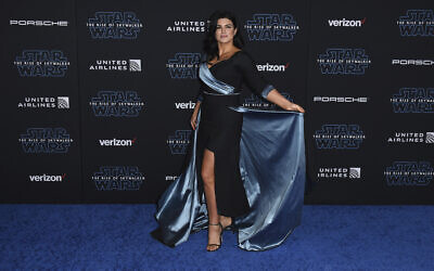 "Gina Carano arrives at the world premiere of ""Star Wars: The Rise of Skywalker"" on Monday, Dec. 16, 2019, in Los Angeles (Jordan Strauss/Invision/AP)"