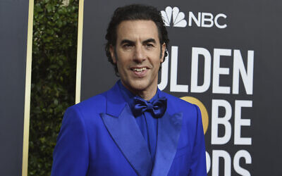Sacha Baron Cohen arrives at the 77th annual Golden Globe Awards at the Beverly Hilton Hotel on January 5, 2020, in Beverly Hills, California. (Photo by Jordan Strauss/Invision/AP)