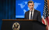 State Department spokesman Ned Price speaks during a news conference at the State Department, Tuesday, Feb. 23, 2021, in Washington. (AP Photo/Manuel Balce Ceneta, Pool)