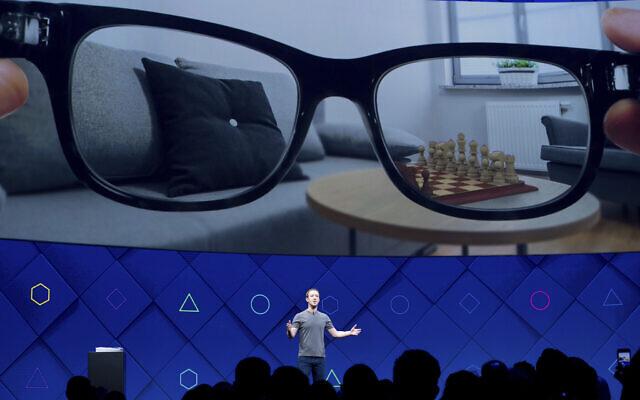 Facebook CEO Mark Zuckerberg at the company's annual conference, April 18 2017, San José, California. (AP Photo/Noah Berger)