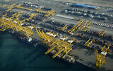 In this Jan. 3, 2010 file photo, container ships dock at the Dubai Port (AP Photo/Kamran Jebreili, File)