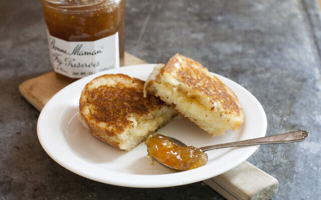 Illustrative: This June 9, 2014 photo shows a grilled cheese made with Bonne Maman fig preserves in Concord, N.H.  (AP Photo/Matthew Mead)